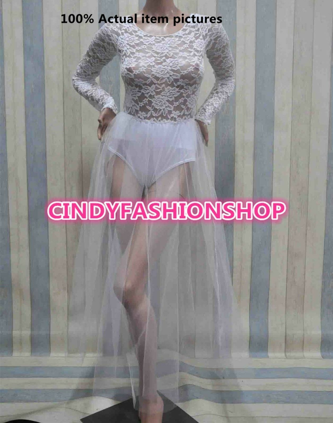 Women Girl Clubwear Hollow Out Lace Organza Bandage TUTU Party Ball Gown Dress