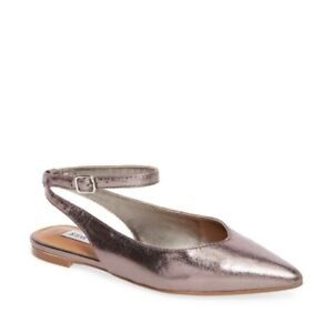 e17e6f158e44a Image is loading Steve-Madden-CUPID-Pewter-Metallic-Point-Toe-Ankle-