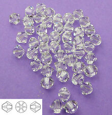 4mm Swarovski 5328 Crystal Bicone Xilion Beads 48pcs