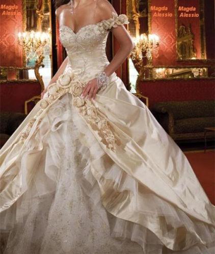 2019 Neu Champagner Hochzeitskleid Brautkleid Gr 36 38 40 42 44     | Spezielle Funktion  | Moderner Modus  | Kaufen