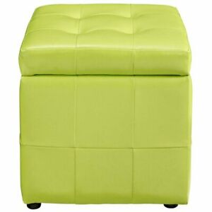 Terrific Details About Modway Volt Square Faux Leather Storage Ottoman In Light Green Ocoug Best Dining Table And Chair Ideas Images Ocougorg