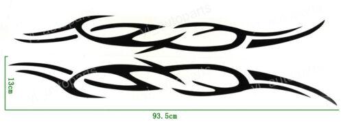 Car Front Hood Lip Trunk Graphic Vinyl Sticker Decal Blaze Blade Eyebrow Black