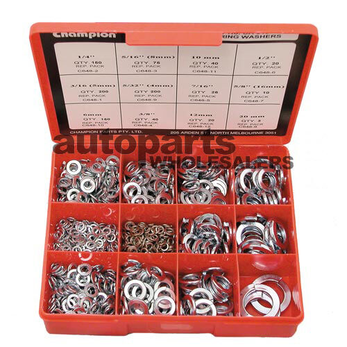 CHAMPION SPRING WASHERS METRIC & IMPERIAL ASSORTMENT KIT 933 Pieces