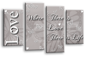 BLACK-WHITE-LOVE-QUOTE-GREY-CANVAS-WALL-ART-FAMILY-PICTURE-4-PANEL-SPLIT