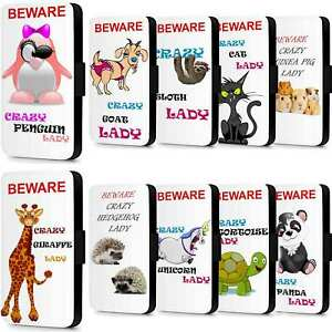 Crazy Lady Pet Animal Flip Wallet Phone Case Cover For iPhone 5 SE 6 7 8 Plus - Kilmarnock, United Kingdom - Crazy Lady Pet Animal Flip Wallet Phone Case Cover For iPhone 5 SE 6 7 8 Plus - Kilmarnock, United Kingdom
