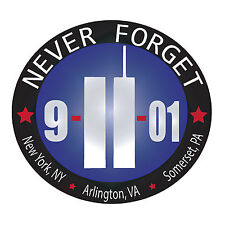 9-11 Never Forget Bumper Sticker Conspiracy-Memorial-Museum-Twin Towers