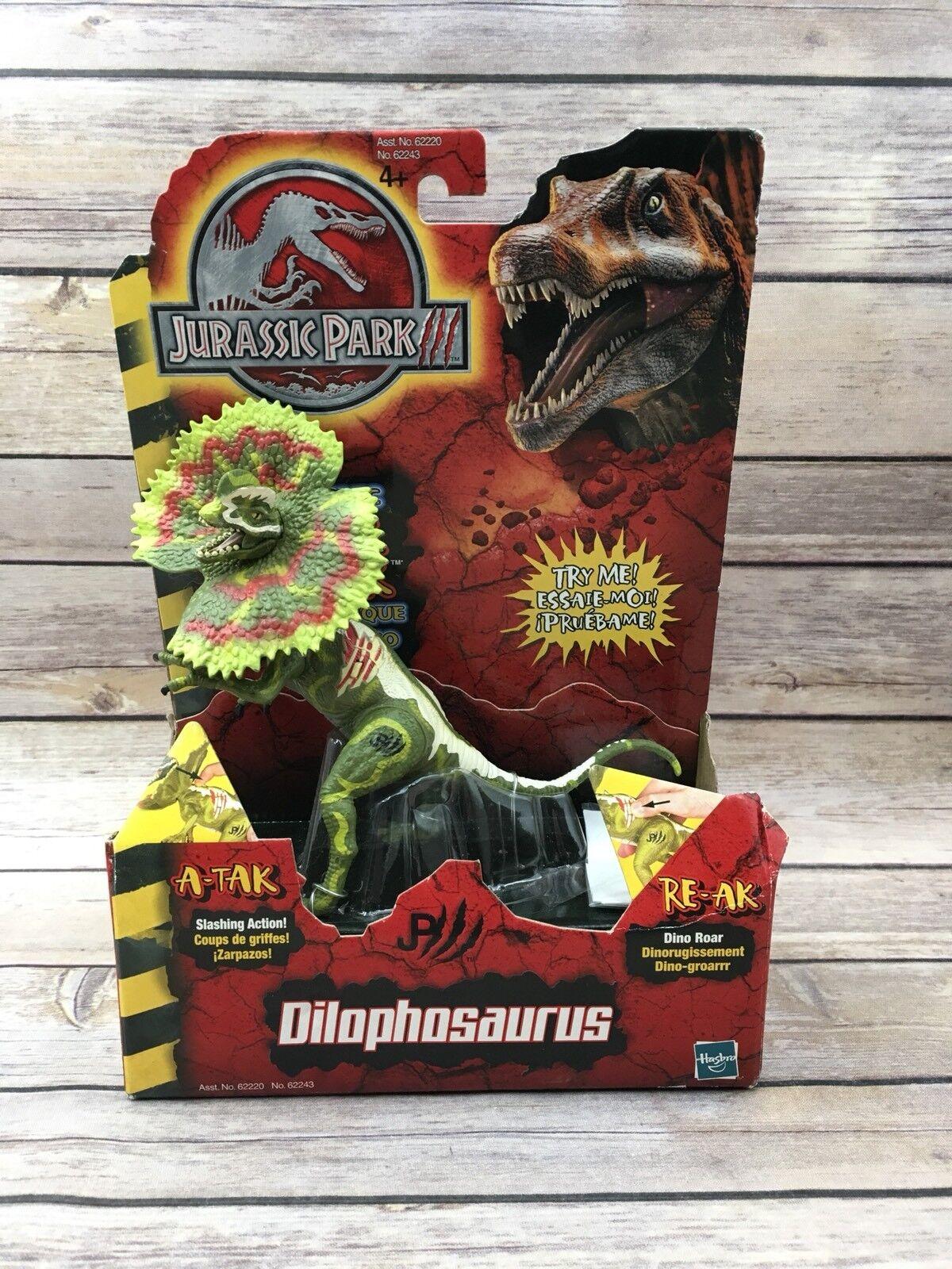 New Hasbro 2000 Jurassic Park 3 Re Ak A-Tak Dilophosaurus  62243 Sealed Dinosaur