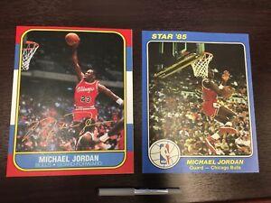 Details About Michael Jordan 86 Fleer Star 85 King Of Court Rookie