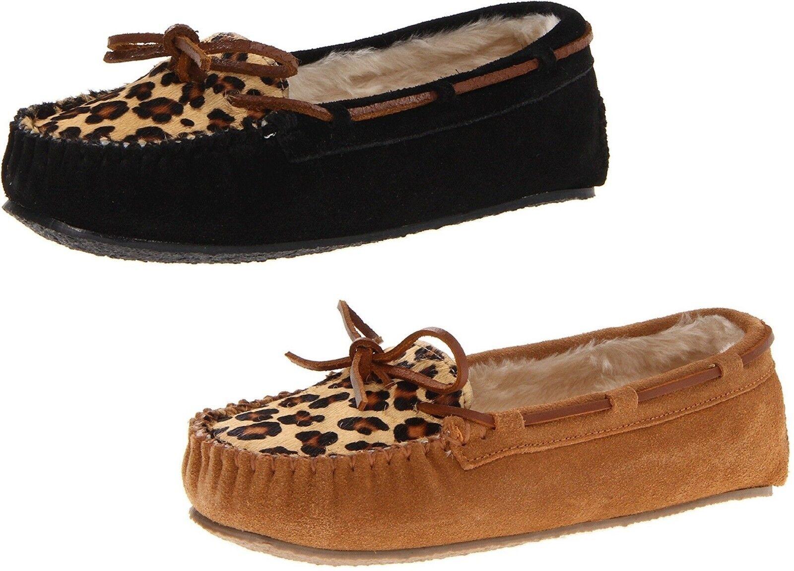 Minnetonka Women's Leopard Cally Slipper