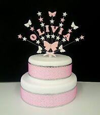 Farfalla Personalizzata and stella compleanno,battesimo topper per torta,