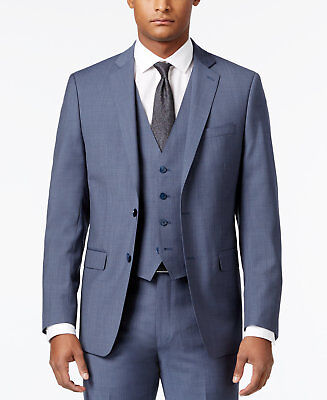 $351 MARC NEW YORK 42R Mens CLASSIC FIT GRAY SOLID BLAZER SPORT COAT SUIT JACKET