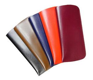 Brillenetui-Einstecketui-aus-glattem-Kunstleder-Schwarz-Braun-Rot-Blau-Robust