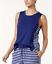Nautica-women-039-s-Side-Striped-Sleeveless-Pajama-Top-Light-Royal-Medieval-Blue thumbnail 8