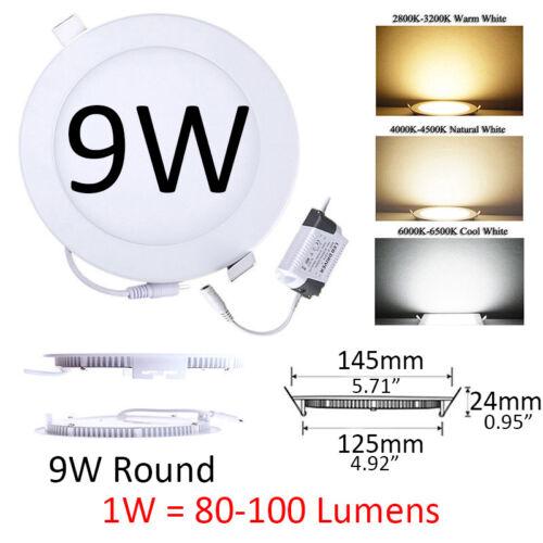 3W 6W 9W 12W 15W 18W 21W 24W LED Recessed Ceiling Light Panel Ultra Thin Round
