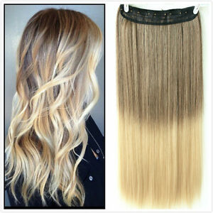 20 22 one piece clip in hair extensions brown wavy blonde dip image is loading 20 034 22 034 one piece clip in pmusecretfo Images