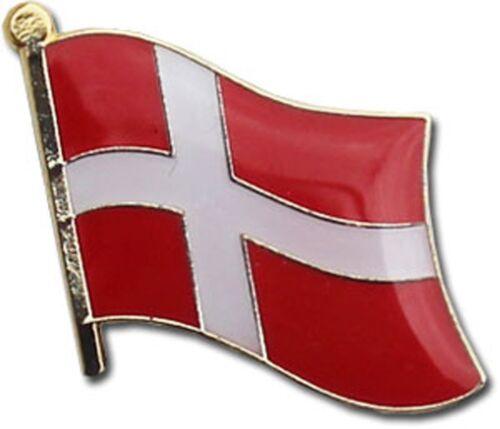 Wholesale Pack of 6 Denmark Country Flag Bike Hat Cap lapel Pin