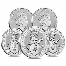 SKU#166545 2018 Great Britain 10 oz Silver Queen/'s Beasts The Dragon