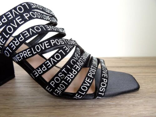 Black Slogan Sandales Slogan Zara Zara Black 4xqwE8nBOI