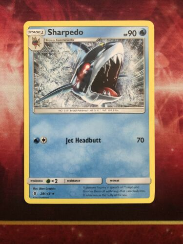 Pokemon Card Sharpedo Guardians Rising #28//145