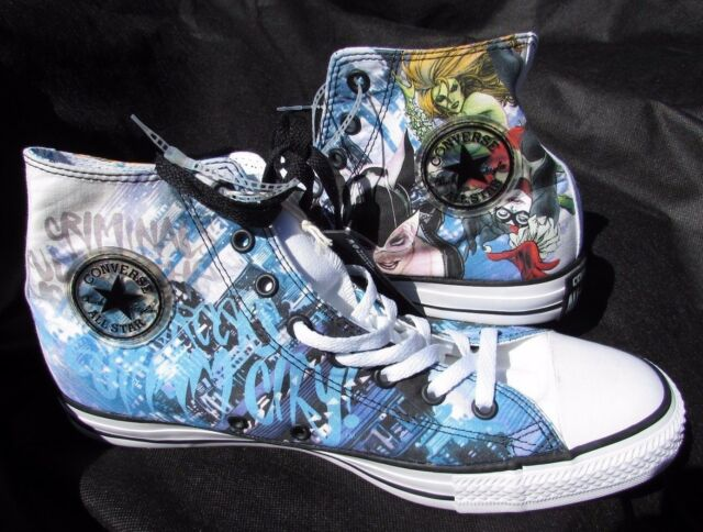793f82063f97 Converse Shoes Hightops size Men 11 women 13 Black blue DC Comics Spring  Bre NeW