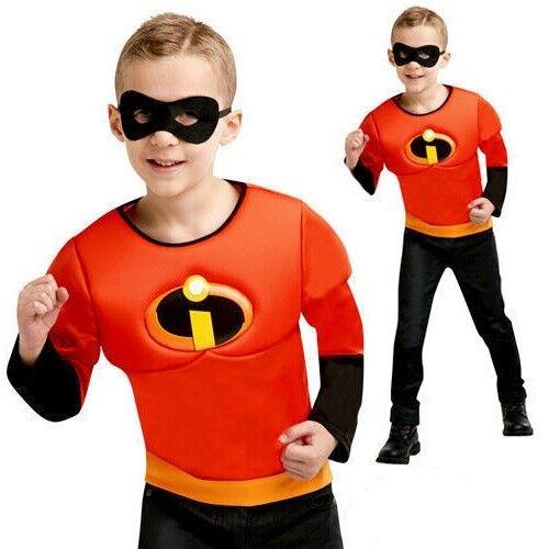 Gli INCREDIBILI 2 Ragazzi muscoli sul petto Top Mask-per ragazzi Costume Super Eroe