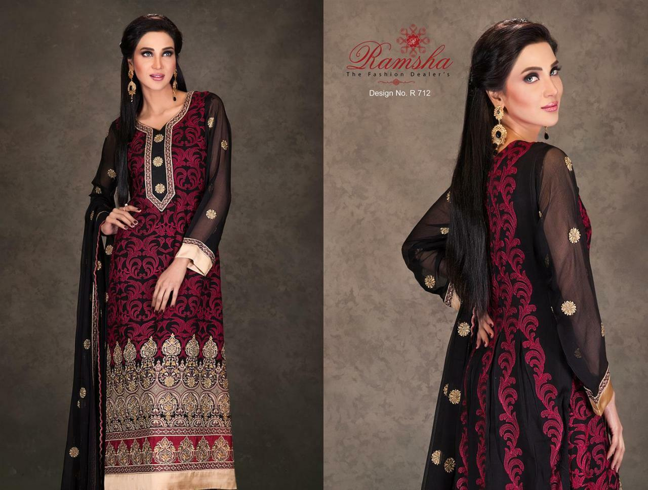 988e2d44b331fa Indian Pakistani Designer Anarkali Salwar Kameez Suit Party Ramsha R712