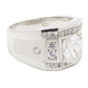 925-Silber-Herren-Ring-034-Royal-Bling-034-Zirkonia-Diamant-Bling-PLAYAZ-massiv-NEU