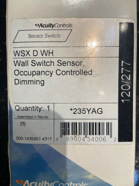 White Sensor Switch WSX PDT D WH Wall Switch