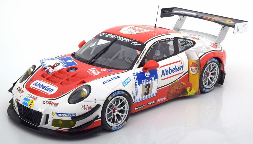 MINICHAMPS 2016 Porsche 911 991 GT3 R 24h Nurburgring Frikadelli  3 1:18*Nuovo