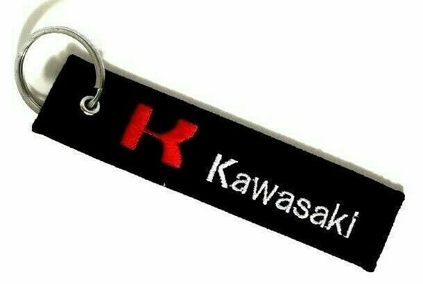 Custom Embroidered Keychain Car Biker Personalised Text Keyring For Motorcycles