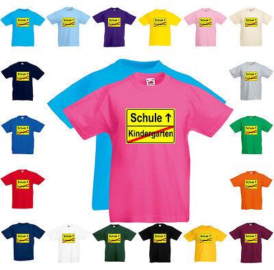 fun t shirt kindergarten schule einschulung kauf auf rechnung m glich ebay. Black Bedroom Furniture Sets. Home Design Ideas