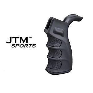 JTM-Sports-Ergonomic-Rifle-Pistol-Grip-Finger-Grooves-w-Storage-for-RPR-Black