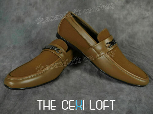 Details about  /Mens Camel Tan Casual Dress Shoes Faux Leather Giovanni Italian Style 818