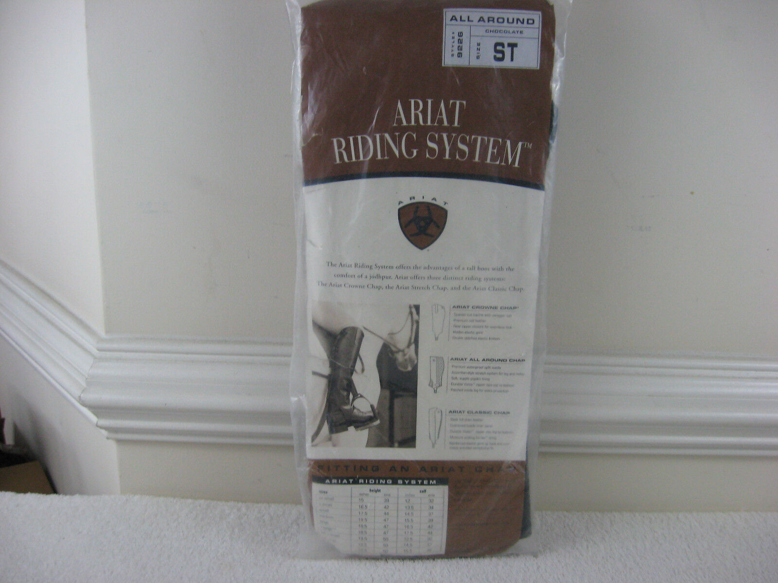 Ariat All Around Chap Half Chaps Style 9226 Chocolate Adult  Small Tall