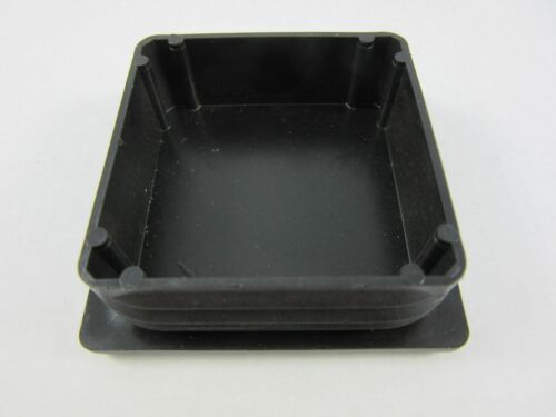 10 x Abdeckkappen 60x60 mm 1-2mm Wandung Schwarz Fußkappen Gleiter Lamellen