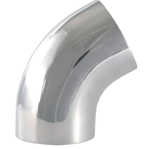 "Air Intake Tube 4 /"" O.D.60 Degree Bend Polished Aluminum 9769 Elbow Pipe"