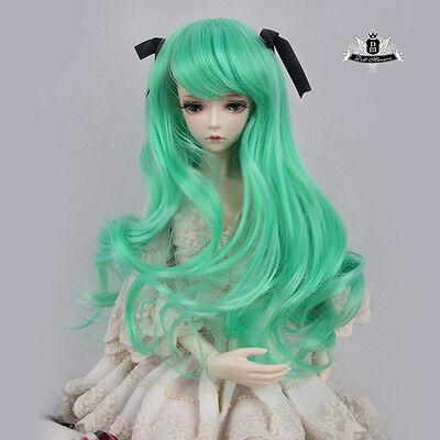 """9-10"""" 1/3 BJD or 70cm BJD Wig Dollfie DREAM Green hair Luts MID Dod AOD SOOM DZ"""