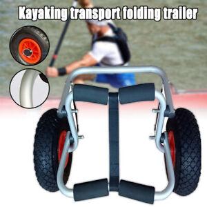 Kayak Canoe Jon Boat Carrier Dolly Trailer Trolley Transport Cart Wheel Yellow