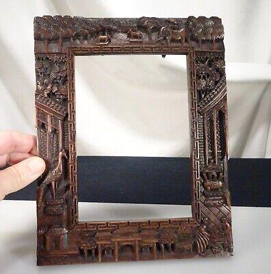 WohltäTig Antik Burmese Geschnitztem Holz- Bilderrahmen - 56167