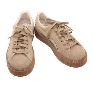 Details about PUMA Suede Platform Core Oatmeal Whisper Beige Fashion Sneaker Schoenen Size 7