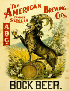 """Geo Winter Bock Beer Brewing Vintage Ad 10/"""" x 7/"""" Reproduction Metal Sign E203"""