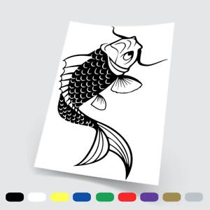 Sticker adesivi adesivo auto moto tuning pesce pesci carpa nero