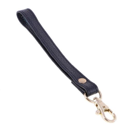 Multicolore en cuir véritable poignet Sac Sangle Poignée de remplacement pour embrayage sac à main