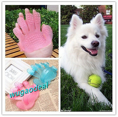 Hand Shape Dogs Cats puppy Rabbit pet Grooming Bath Massage Glove Brush Comb