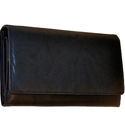 Damen - Geldbörse mit 20 Fächern aus feinem Rindleder / Portemonnaie Geldbeutel