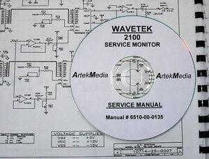 wavetek 2100 service monitor service manual ebay rh ebay com service manual motor for mf 231s service manual motorola ht600