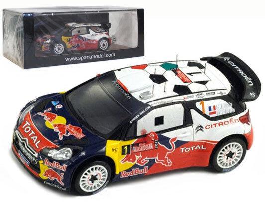 Spark S3306 Citroen DS3 WRC Winner Italia Sardegna Rally 2011 - S Loeb 1 43