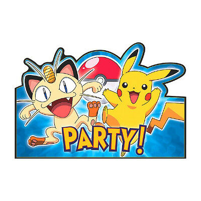 8 Pikachu & Friends Pokemon Birthday Party Invite Invitations plus Envelopes