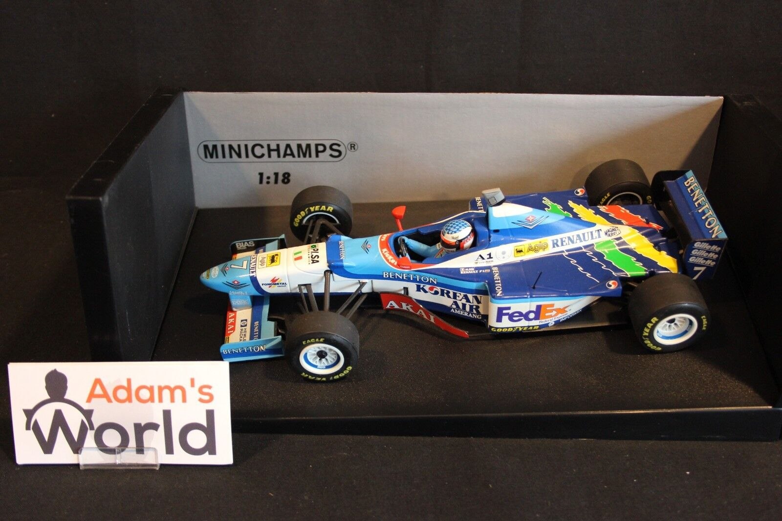 Minichamps Benetton Renault B197 1997 1 18 Jean Alesi (FRA) (MM1)
