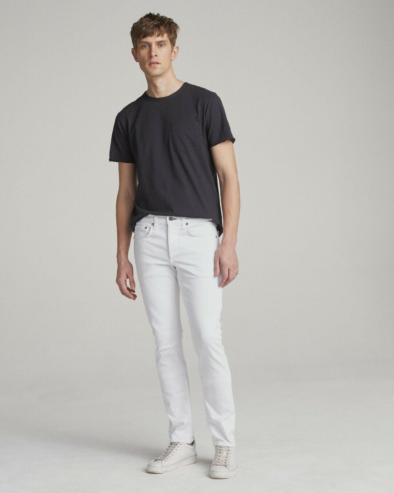 Men's rag & bone Fit 1 Extra Slim Fit Jeans White Sz 34 x 33 NWT M1224O137WHT